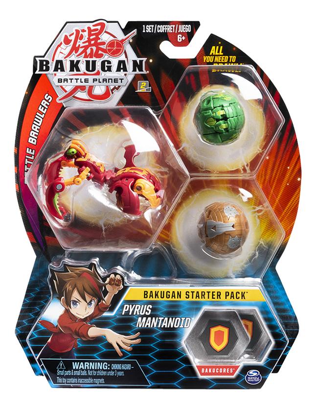Bakugan Starter 3-Pack - Pyrus Mantanoid