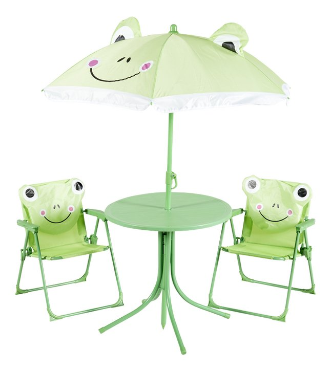 Kindertuinset met parasol Kikker