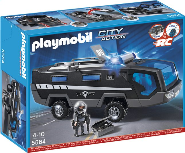 Afbeelding van Playmobil City Action 5564 Interventietruck speciale eenheid from DreamLand