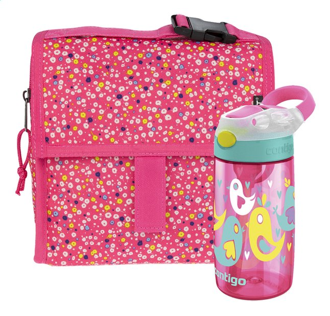 Image pour PackIt sac à lunch Freezable Mini Poppies + Contigo gourde Gizmo Flip rose 420 ml à partir de DreamLand