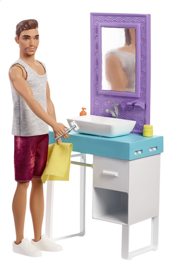Afbeelding van Barbie speelset Ken met wastafel from DreamLand