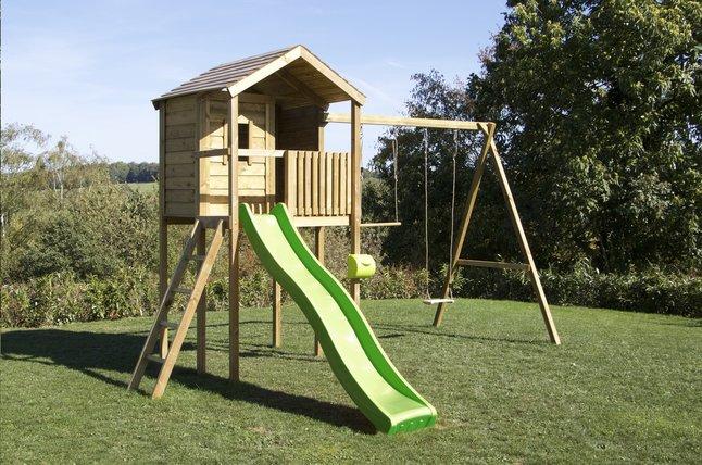 Image pour BnB Wood portique avec cabane Lucas et tobbogan vert pomme à partir de DreamLand