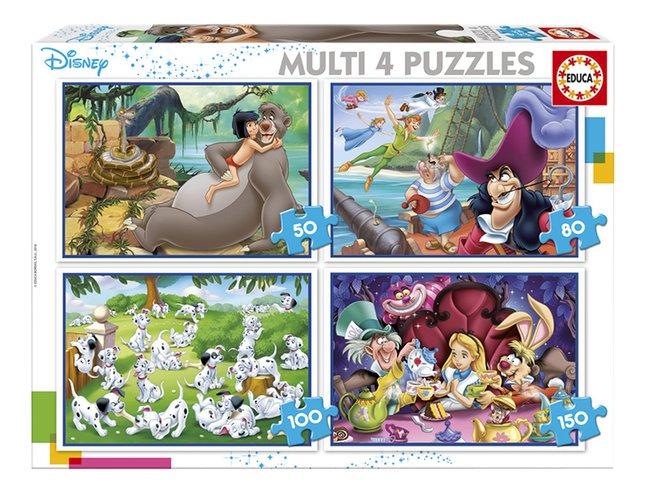 Educa Borras meegroeipuzzel 4-in-1 Disney Classic