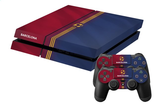 Afbeelding van PS4 console skins + 2 controllers skins Barcelona from DreamLand