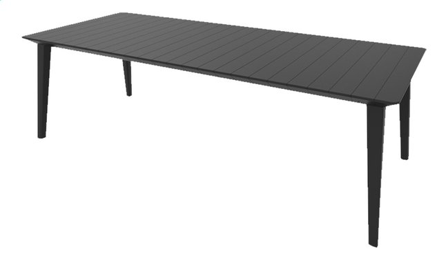 Allibert Table de jardin Lima gris graphite L 240 x Lg 97 cm