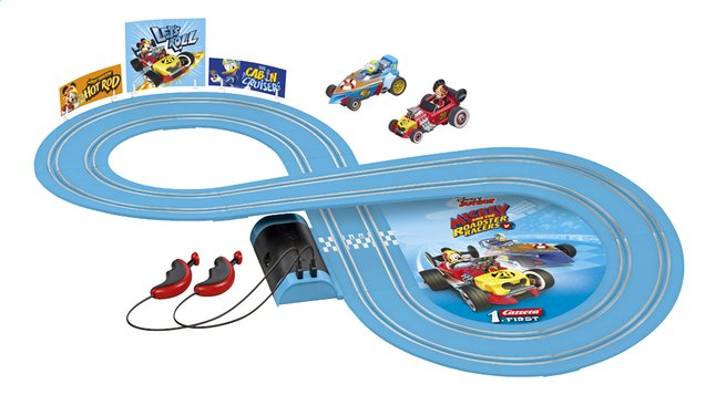 Carrera First autobaan Mickey Mouse Micky & Roadster Racers