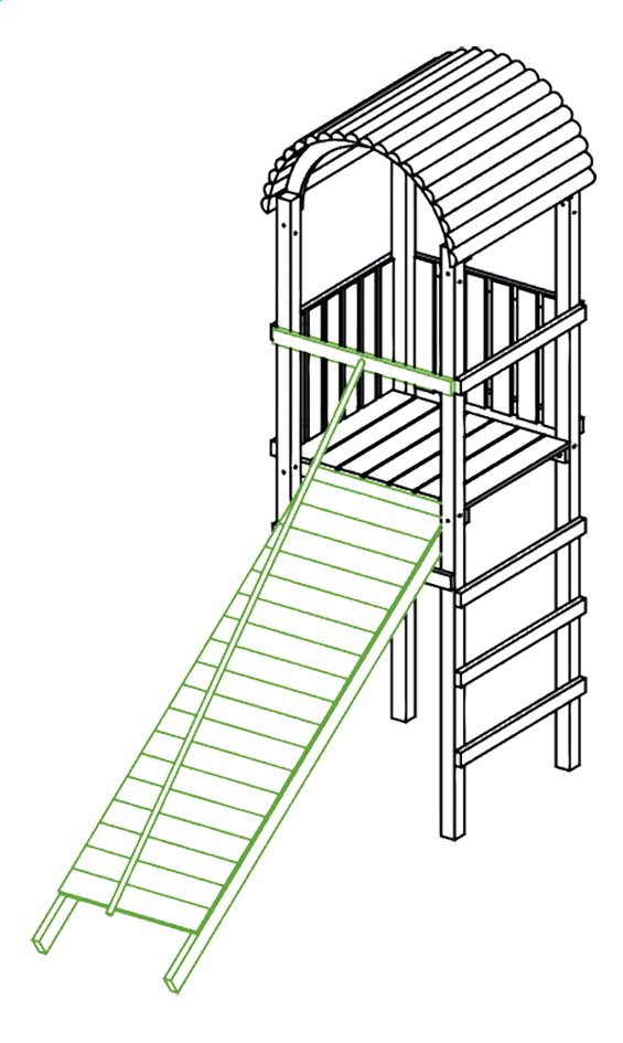 Image pour BnB Wood plan incliné avec corde pour Nieuwpoort/Fireman/Eurocup à partir de DreamLand