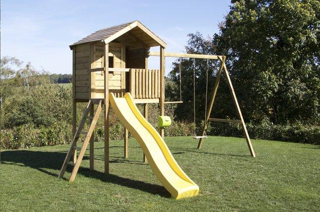 Image pour BnB Wood portique avec cabane Lucas et tobbogan jaune à partir de DreamLand
