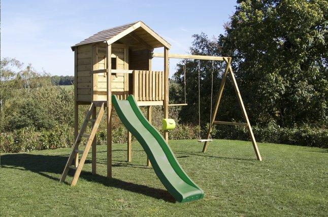 Image pour BnB Wood portique avec cabane Lucas et tobbogan vert à partir de DreamLand