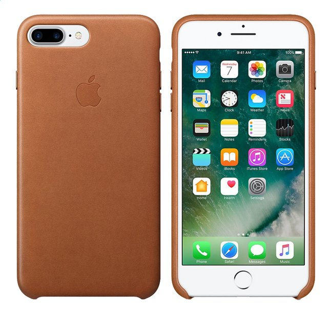 Afbeelding van Apple backcover voor iPhone 7 Plus leder bruin from DreamLand