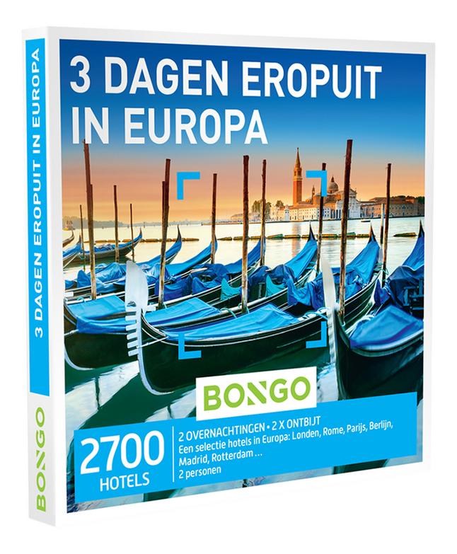 Afbeelding van Bongo cadeaubon 3 Dagen Eropuit in Europa from DreamLand