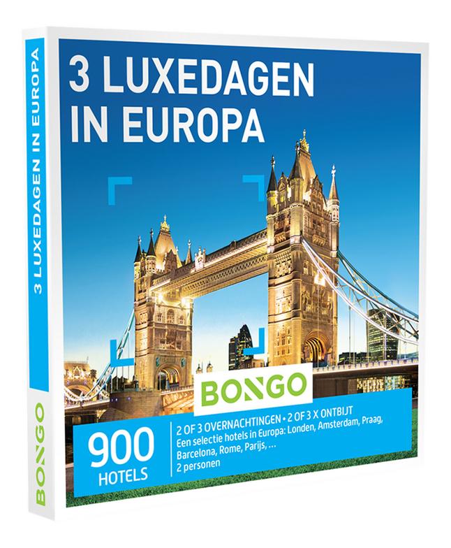 Afbeelding van Bongo cadeaubon 3 Luxedagen in Europa from DreamLand