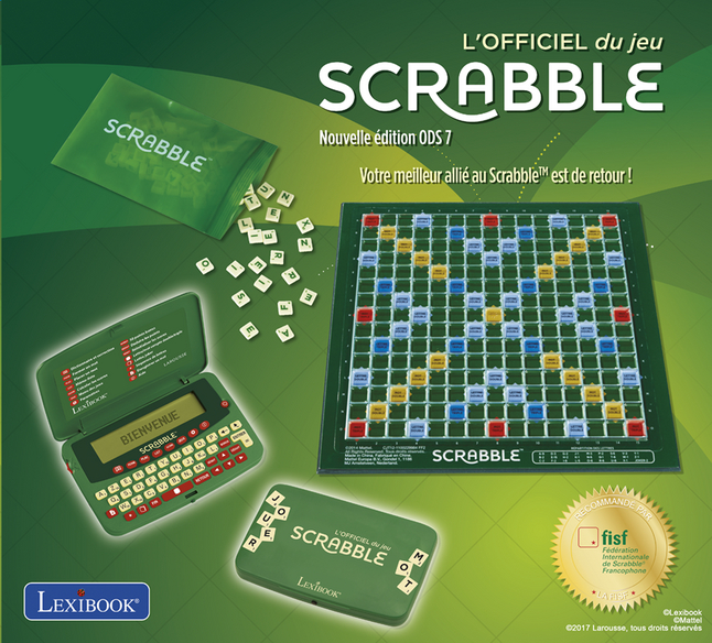 dictionnaire lectronique lexibook l 39 officiel du jeu scrabble dreamland. Black Bedroom Furniture Sets. Home Design Ideas