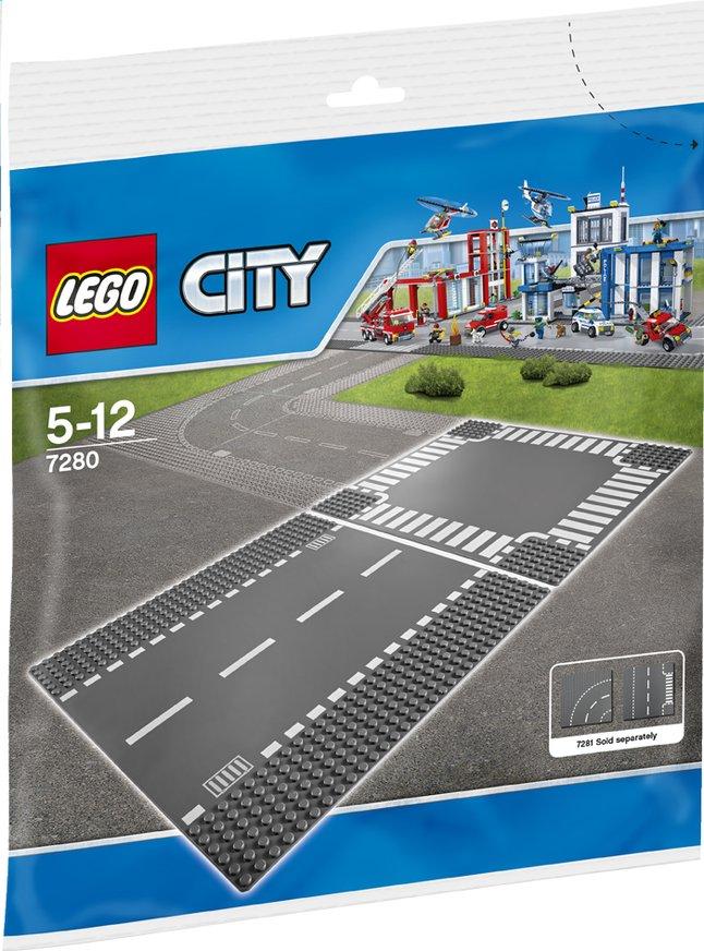Afbeelding van LEGO City 7280 Wegenplaten - Rechte lijn en kruispunt from DreamLand