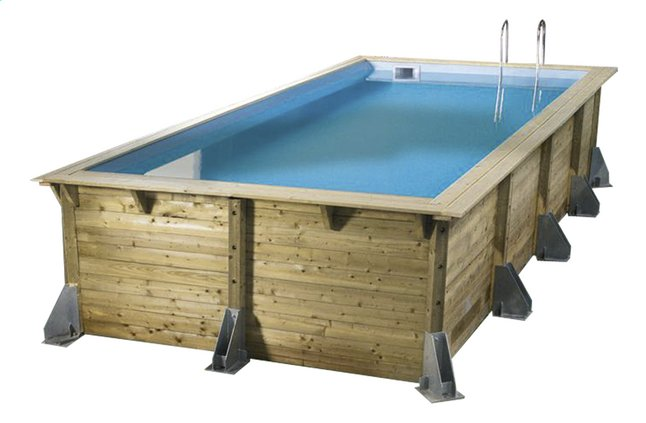 ubbink houten zwembad linea 3 50 x 5 05 m dreamland. Black Bedroom Furniture Sets. Home Design Ideas