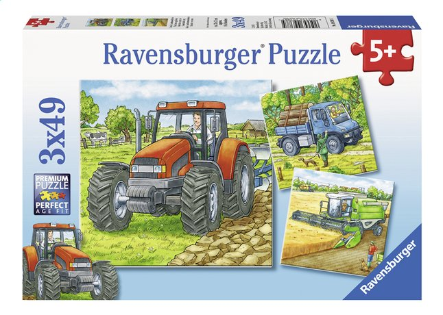 Afbeelding van Ravensburger 3-in-1 puzzel Landbouwmachines from DreamLand