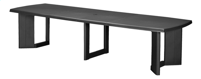 Allibert table à rallonge New York gris graphite 260 x 105 cm ...