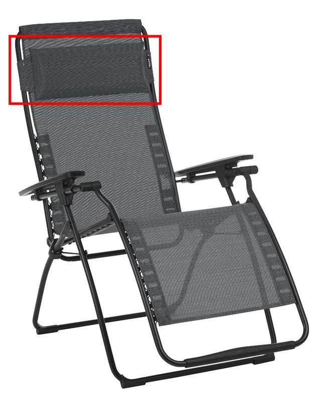Image pour Lafuma appuie-tête pour fauteuil relax Futura/Futura XL Air Comfort Obsidian à partir de DreamLand