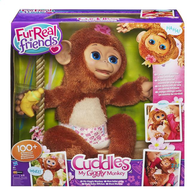 Afbeelding van FurReal Friends interactieve knuffel Cuddles My Giggly Monkey from DreamLand