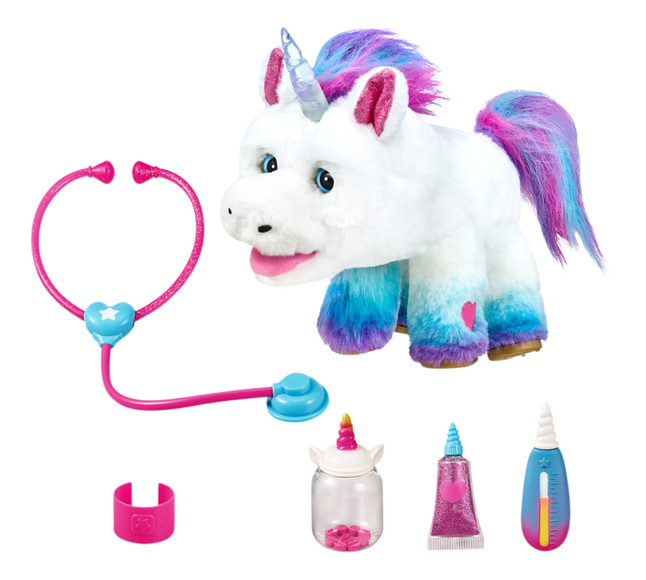 Interactieve knuffel Little Live Pets Rainglow Unicorn Vet Set