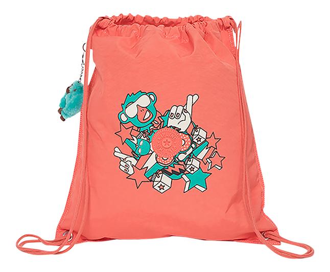 Kipling sac de gymnastique Supertaboo Light Peachy Pink Fun