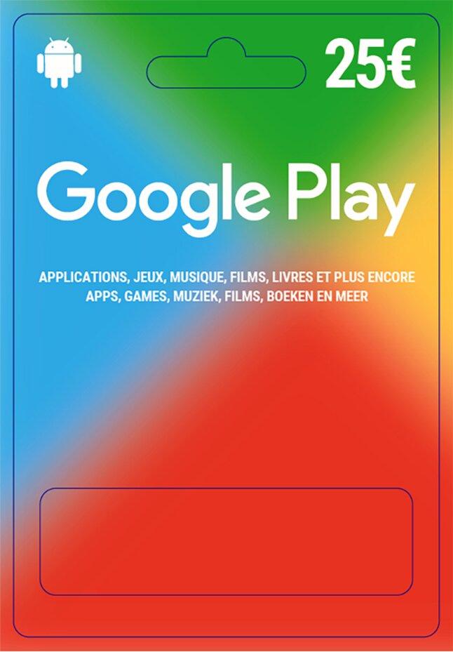 Giftcard Google Play 25 euro