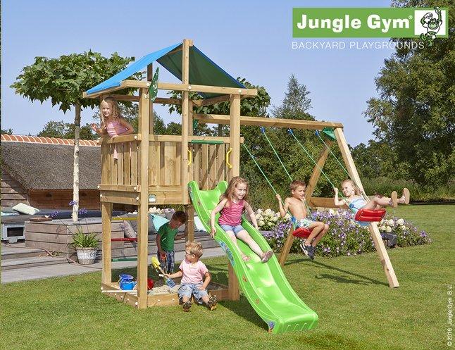 Image pour Jungle Gym portique en bois De Hut avec toboggan vert à partir de DreamLand