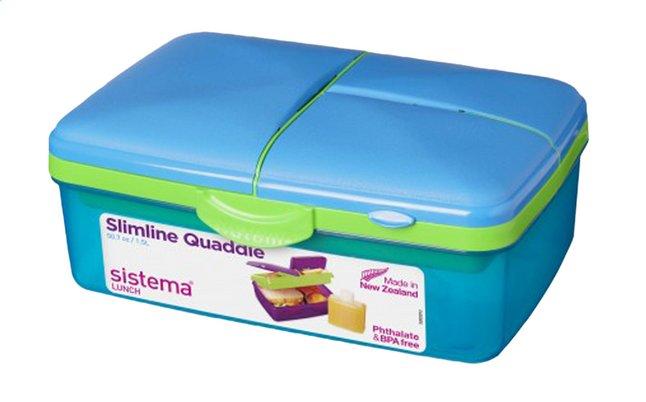Image pour Sistema boîte à tartines Slimline Quaddie bleu à partir de DreamLand