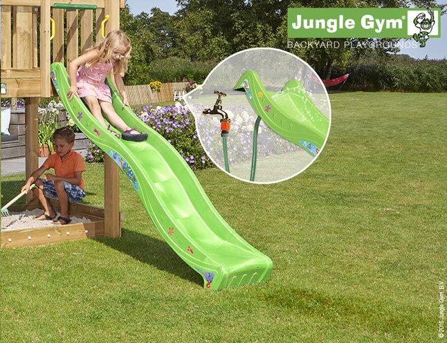 Afbeelding van Jungle Gym houten speeltoren House met groene glijbaan from DreamLand
