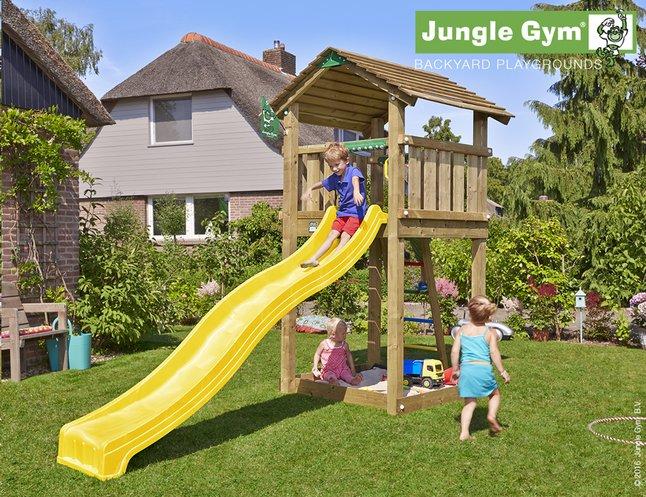 Image pour Jungle Gym tour de jeu en bois Cottage avec toboggan jaune à partir de DreamLand