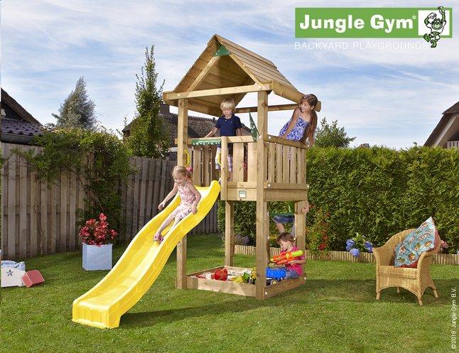 Image pour Jungle Gym tour de jeu en bois House avec toboggan jaune à partir de DreamLand