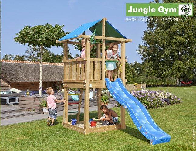 Image pour Jungle Gym tour de jeu en bois De Hut avec toboggan bleu à partir de DreamLand