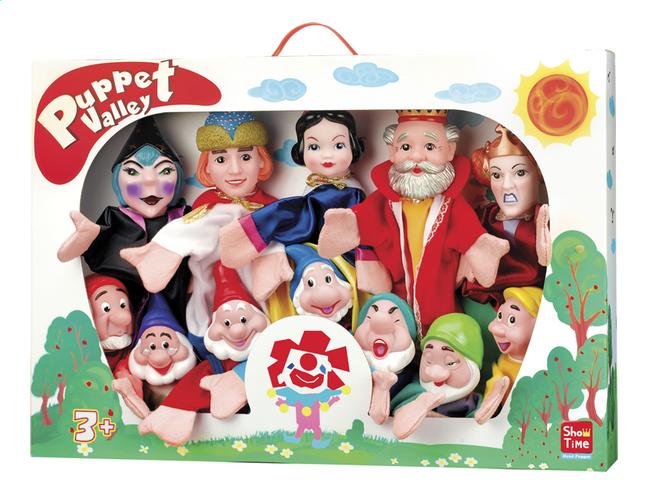 Afbeelding van Set van 12 poppenkastpoppen Sneeuwwitje en de 7 dwergen from DreamLand
