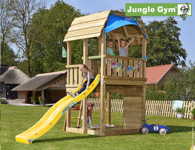 Image pour Jungle Gym tour de jeu en bois Barn avec toboggan jaune à partir de DreamLand