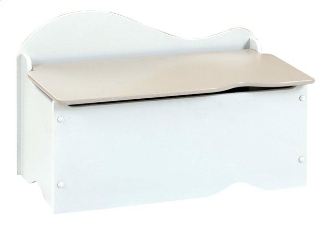 Afbeelding van Speelgoedkoffer wit met grijs deksel from DreamLand