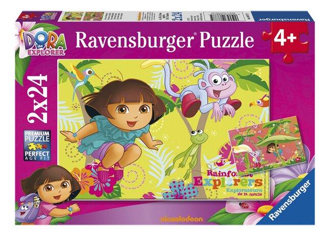 Afbeelding van Ravensburger puzzel 2-in-1 Dora in de jungle from DreamLand