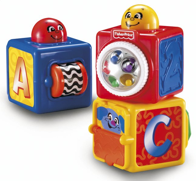 Afbeelding van Fisher-Price Stapelblokken Stacking Action Blocks - 3 stuks from DreamLand