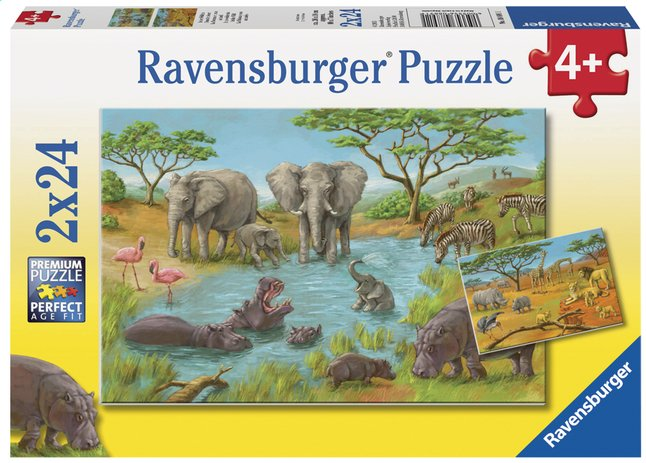 Afbeelding van Ravensburger puzzel 2-in-1 In de wildernis from DreamLand
