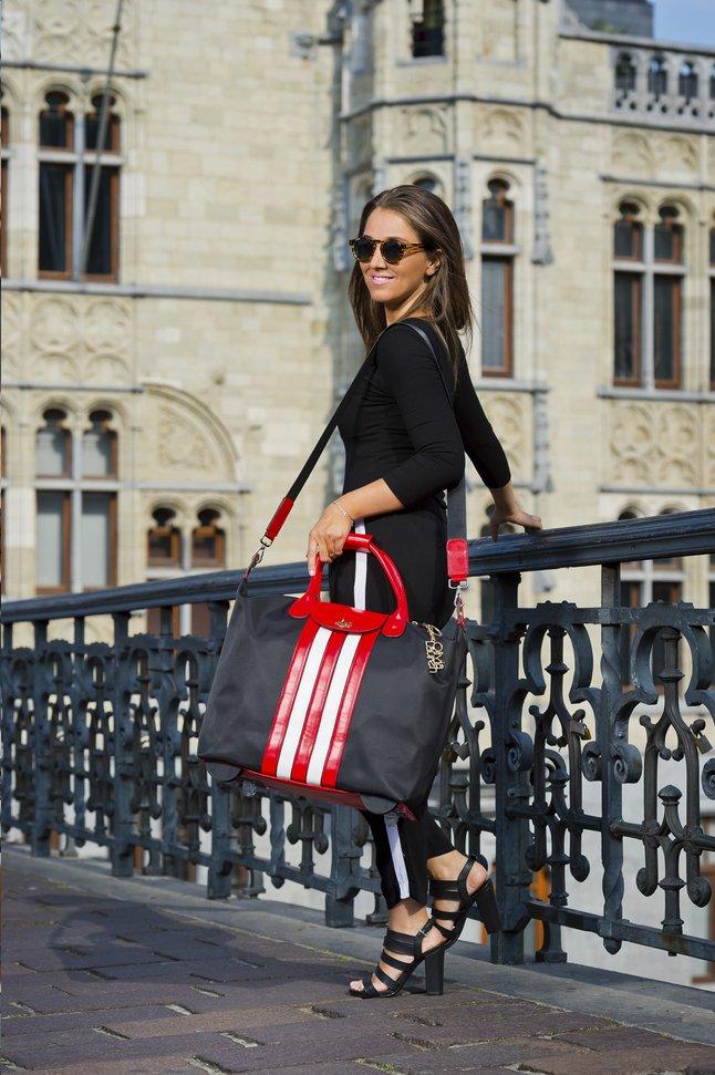 Afbeelding van Olivia Lauren businesstrolley RNB zwart/rood/wit from DreamLand
