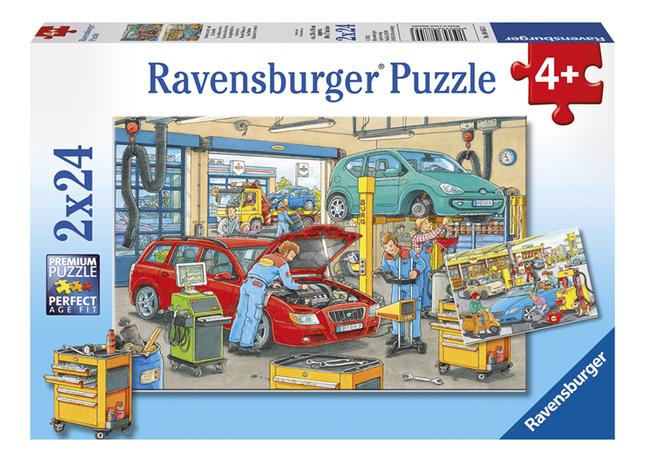 Afbeelding van Ravensburger puzzel 2-in-1 Garagebedrijf en tankstation from DreamLand