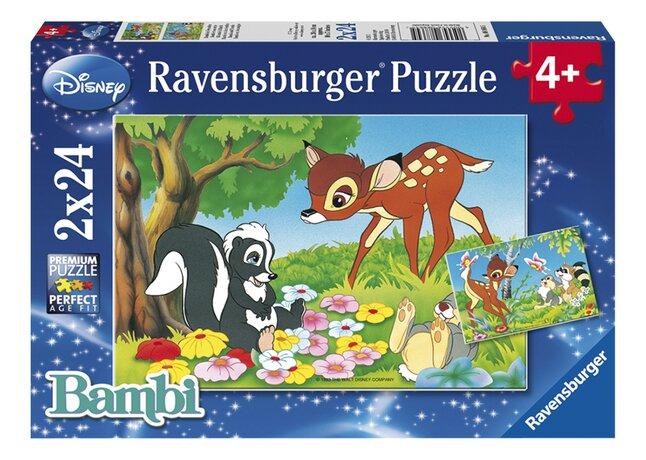 Afbeelding van Ravensburger puzzel 2-in-1 Bambi en z'n vriendjes from DreamLand