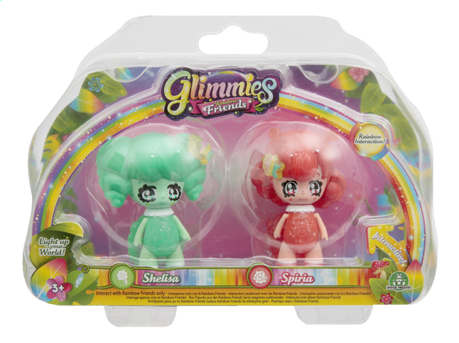 Afbeelding van Figuur Glimmies Rainbow Friends Shelisa en Spiria from DreamLand