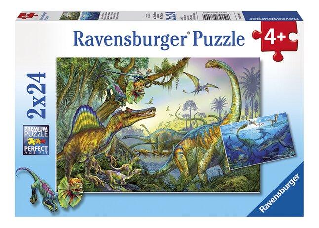 Image pour Ravensburger puzzle 2 en 1 Géants de la préhistoire à partir de DreamLand