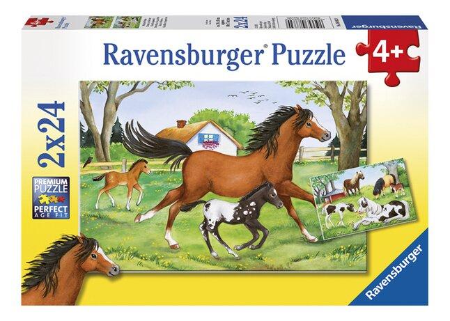 Image pour Ravensburger puzzle 2 en 1 Monde des chevaux à partir de DreamLand