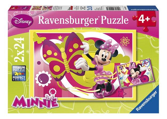 Afbeelding van Ravensburger puzzel 2-in-1 Een dag met Minnie from DreamLand