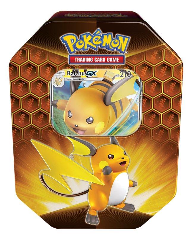 Pokémon Trading Cards Fall 2019 Tin Box Hidden Fates - Raichu GX ANG
