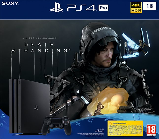Console PS4 1 To Pro noir + Death Stranding