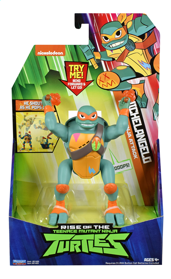 Rise of the Teenage Mutant Ninja Turtles actiefiguur Pop-Up Ninja Attack Michelangelo