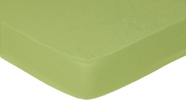 Image pour Sleepnight drap-housse lime en coton 160 x 200 cm à partir de DreamLand