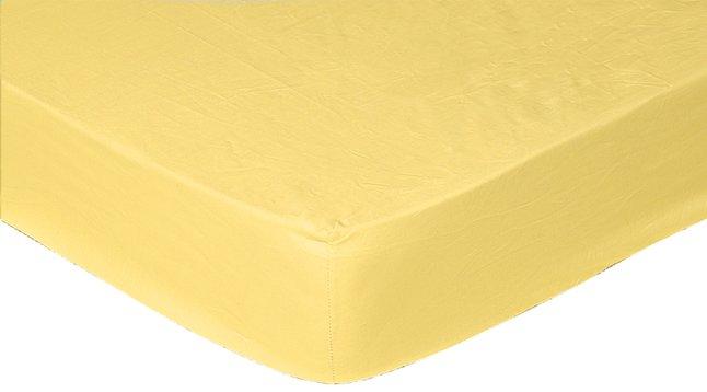Image pour Sleepnight drap-housse jaune en jersey de coton 90/100 x 200 cm à partir de DreamLand